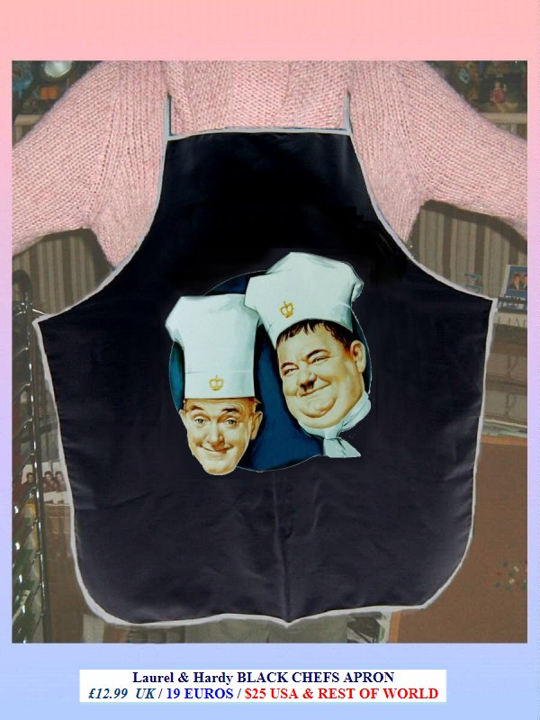 Nothing But Trouble laurel and hardy CHEFS APRON