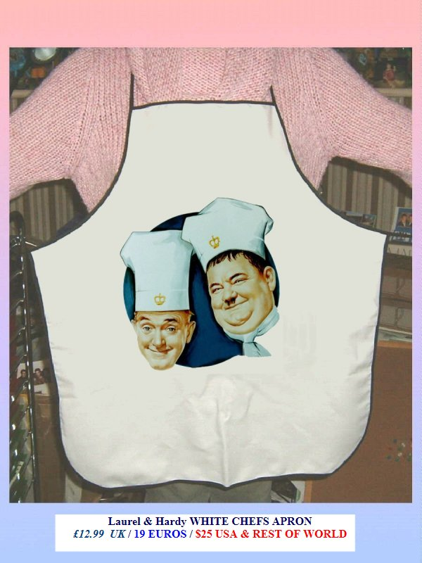 Laurel and hardy Chefs apron
