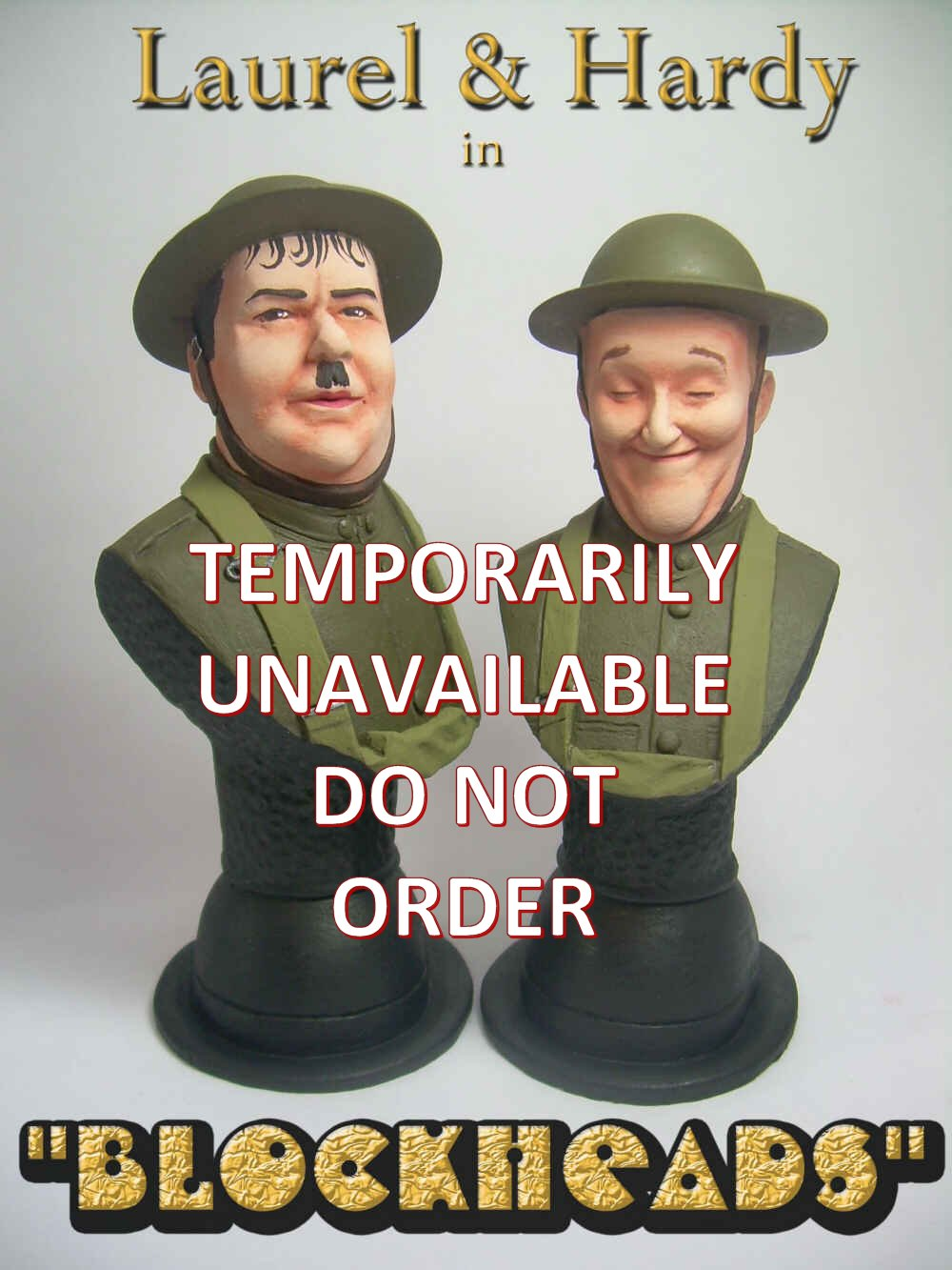 NEW Laurel and Hardy Blockheads Busts