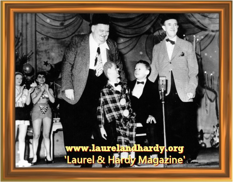 Bobby and Ginger with Laurel and Hardy