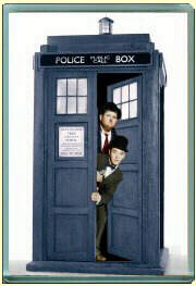 TARDIS LAUREL and HARDY Firidge magnet