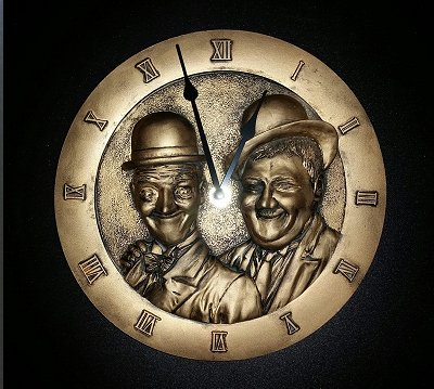 Laurel and Hardy Clock
