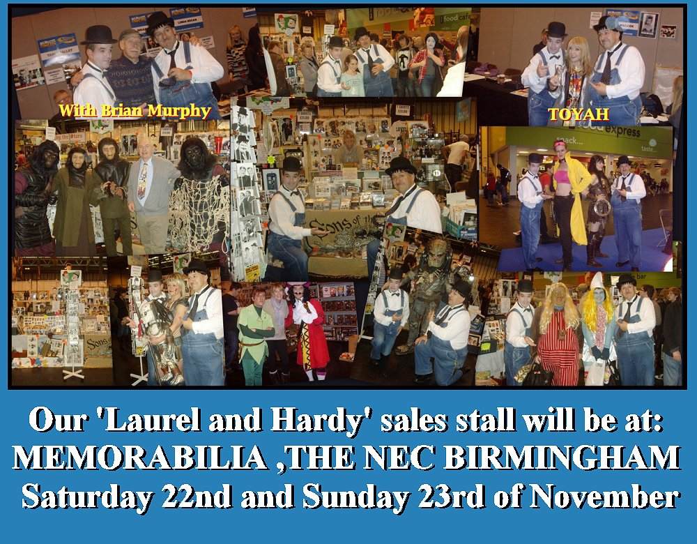 MEMORABILIA NEC BIRMINGHAM Laurel and Hardy