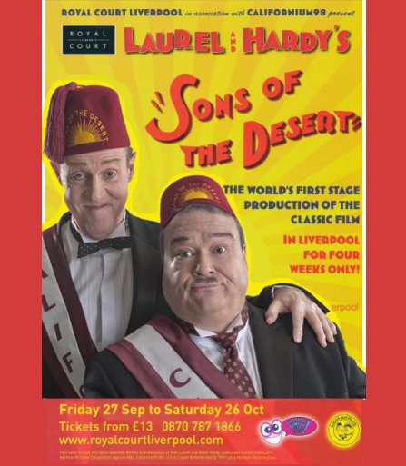 Laurel and hardy in Blackpool