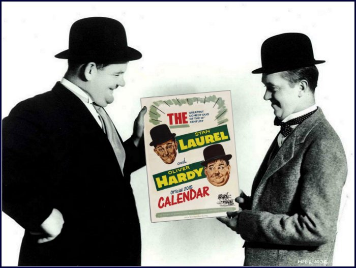 Laurel and Hardy official calendar