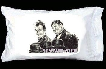 Laural and hardy pillowcase