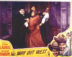 Stan Laurel and Oliver Hardy in Way out West