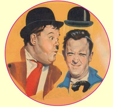 Laurel and Hardy on Tour Badge Pin