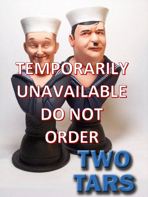 Laurel and hardy Two tars busts
