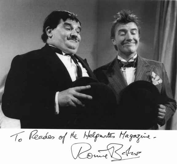 Ronnie Barker and Roy Castle as laurel and Hardy