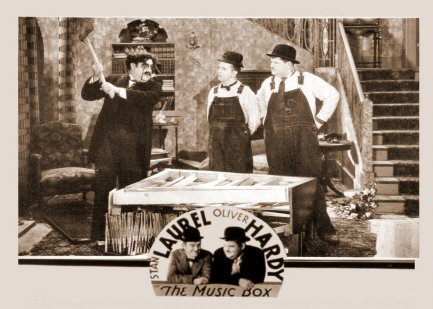 Laurel hardy in the Music Box