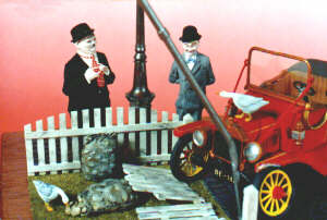Laurel and Hardy Model Display
