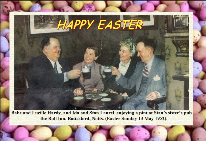 Laurel and Hardy at EASTER