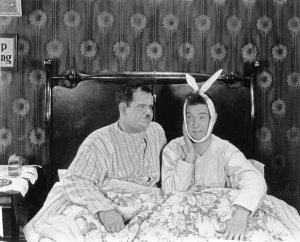 Laurel Hardy Friends Joeys apartment poster