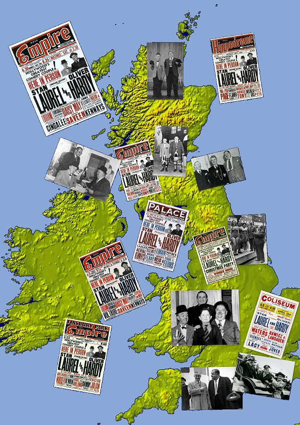 Laurel and Hardy British Tours postcard set