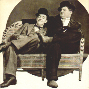 a rare laurel and hardy photo