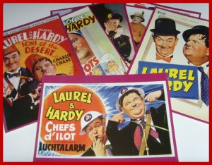 laurel and hardy poster set