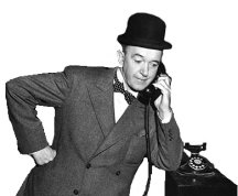 Stan Laurel and the phone
